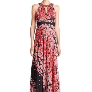 Teri Jon by rickie freeman Red Floral Maxi Dress